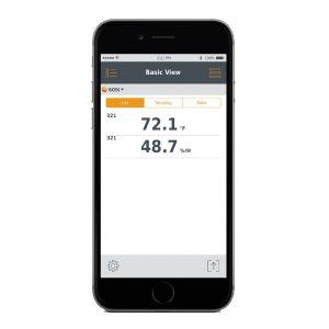 Testo 605i Application Screen