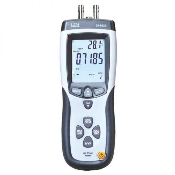 CEM DT-8920 Manometer & Flow Meter